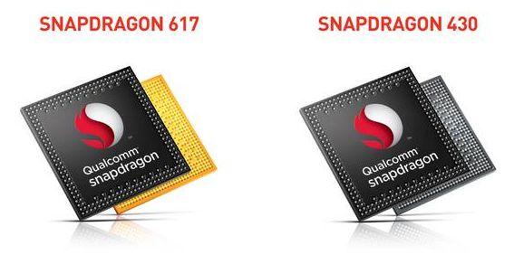 snapdragon 617 and 430