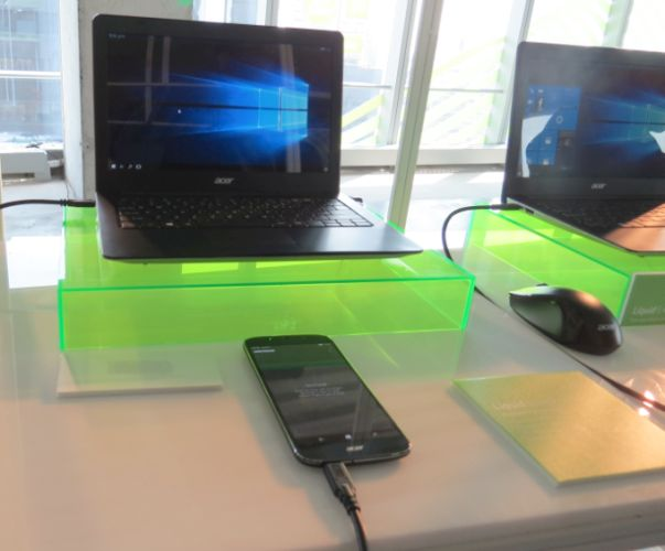 Acer Liquid Extend is a laptop dock for Acer's Windows 10