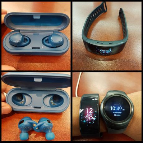 samsung gear fit 2 and gear iconx