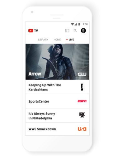 YouTube TV: Live streaming TV for $35 per month (with 40 channels, cloud DVR)