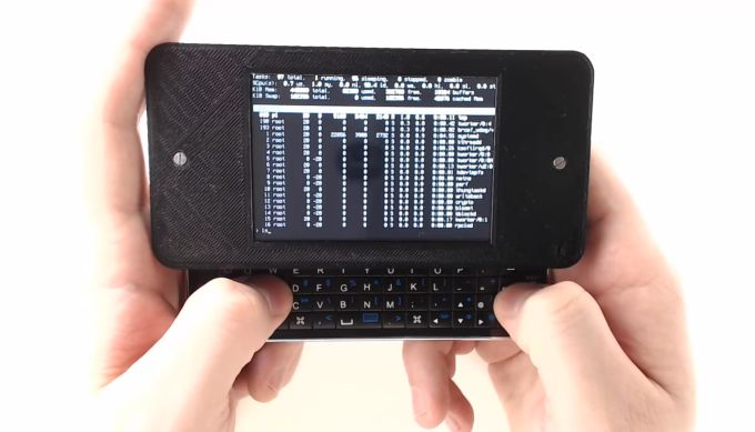 Zero Terminal: A DIY handheld Linux PC made from a Raspberry Pi and a cheap iPhone keyboard accessory