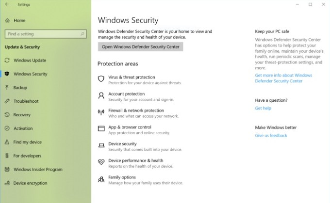 Windows Defender becomes Windows Security (and other changes in