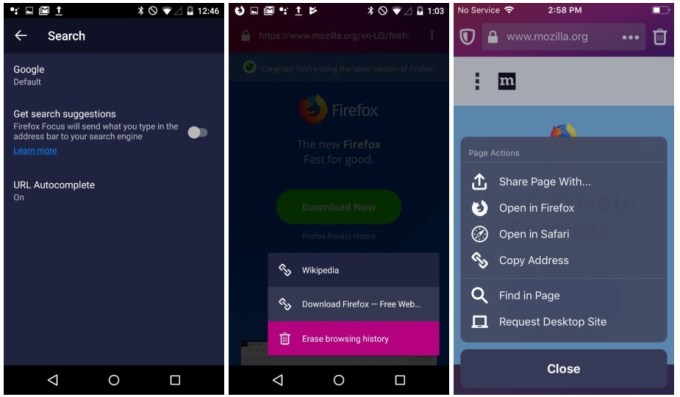 Mozilla brings new features to Firefox Focus privacy-focused
