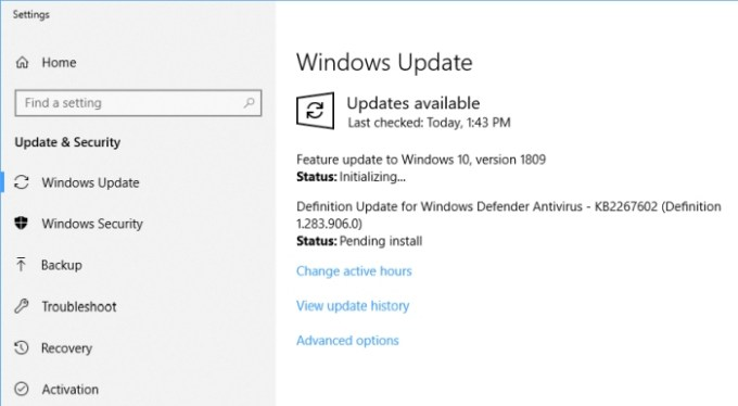 Windows 10 October 2018 Update is now available for anyone