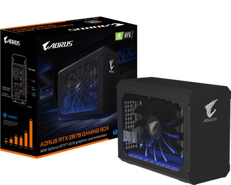 Gigabyte's new external graphics dock houses a GeForce RTX 2070 GPU