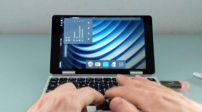 One Mix 1S Yoga mini laptop Linux test - Liliputing