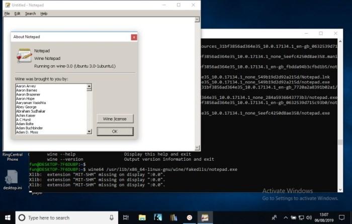 Wine on Windows lets you run Windows apps    on Windows (through