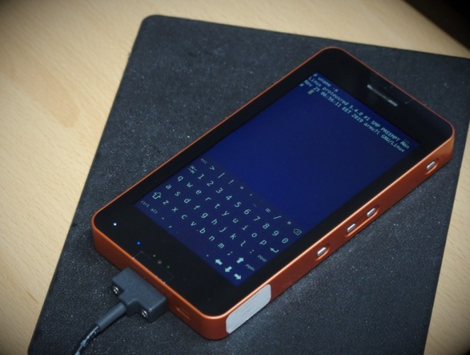 Proteus Device is a secure, Linux-based handheld (not a