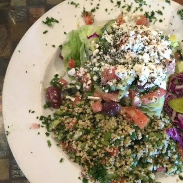 Tabouli with a Greek Wedge
