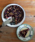 blackberry and blueberry tart with mint