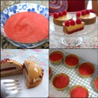 Easy fresh raspberry jelly layer/insert for tarts and mousse cakes