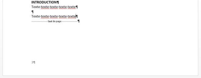 """Exemple, Pied de page de la page 3, article """"Didacticiel Microsoft Word: Petit guide pour utiliser les sauts de page"""""""