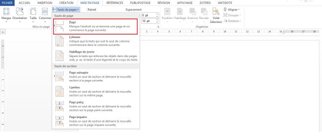 """Section Sauts de page, article """"Didacticiel Microsoft Word: Petit guide pour utiliser les sauts de page"""""""