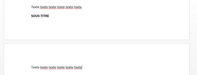 """Scénario 1 de l'article """"Didacticiel Microsoft Word: Petit guide pour utiliser les sauts de page"""""""
