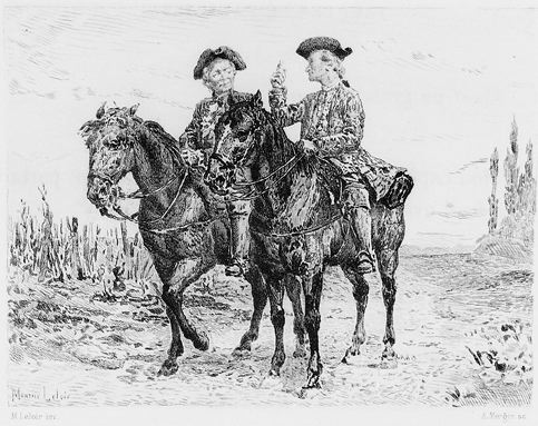 Jacques et son maître à cheval