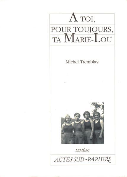 Couverture de À toi,pour toujours, ta Marie-Lou