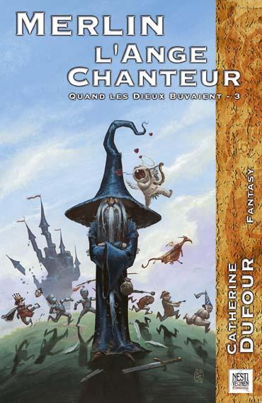 DUFOUR, Catherine, Merlin l'ange chanteur, Aix-en-Provence, Nestivequen, coll. « Fractales Fantasy », 2003, 256 p. vis lecture sur lilitherature.com,