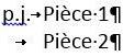 Exemple de la mise en forme de plusieurs pièces jointes