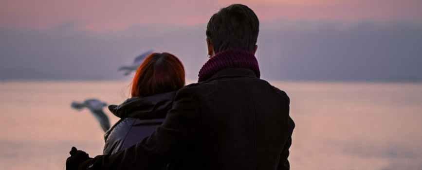 sea dawn sunset man