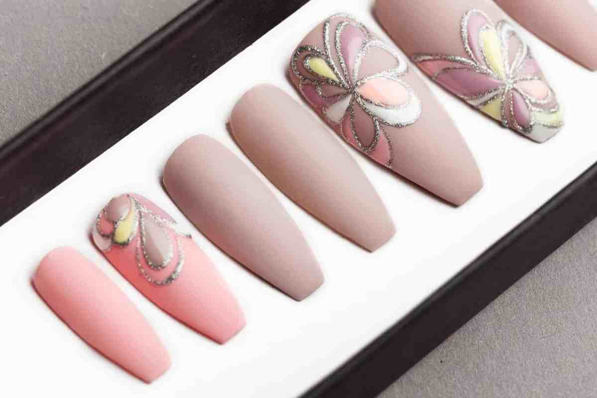 Beige and Pink nude Press on Nails
