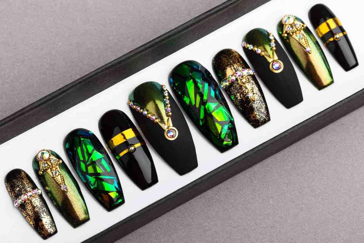 Egyptian Curse Press on Nails | Fake Nails | False Nails | Glue On Nails | Shattered Glass | Handpainted Nail Art