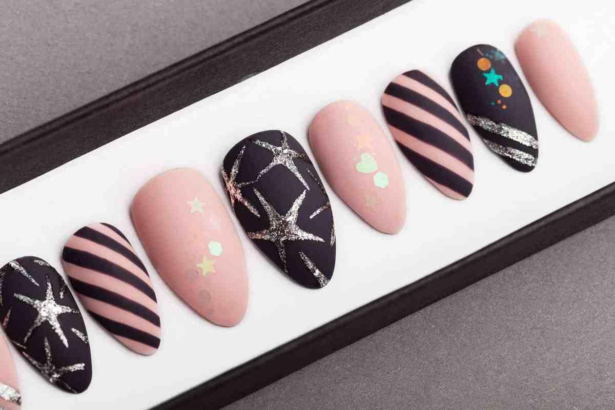 Stars & Stripes Press on Nails | Unicorn Nails | Hand painted Nail Art | Fake Nails | False Nails | Party Nails