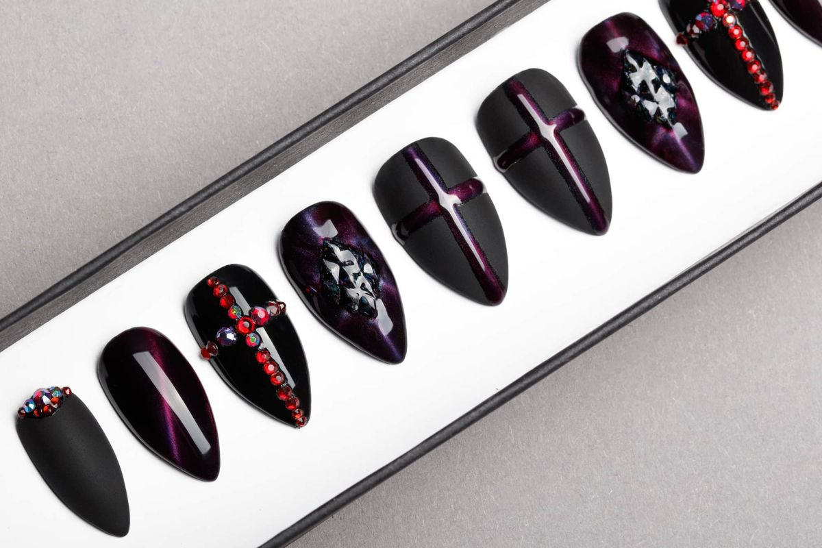 Universe of Crosses Press on Nails