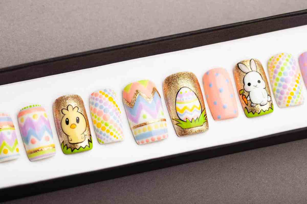 Easter Press on Nails