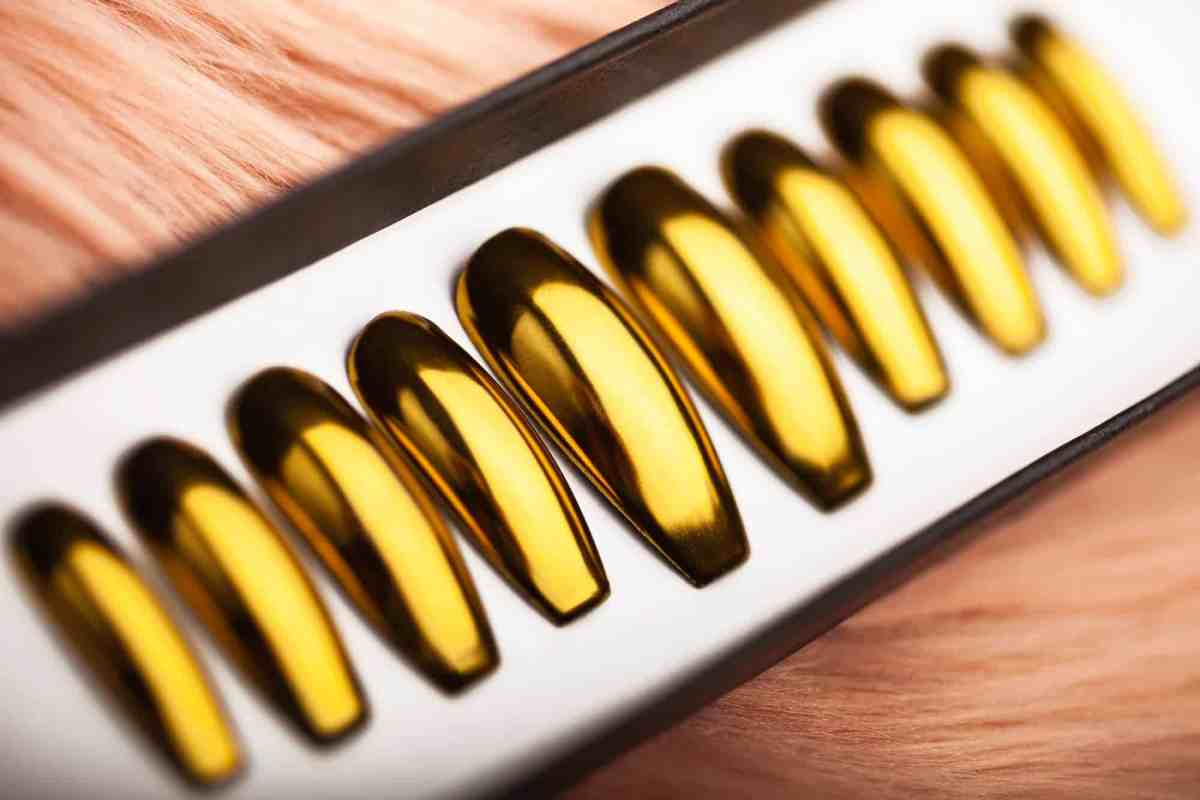 Golden Mirror Press on Nails