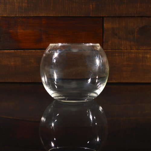 Круглый аквариум 1,4 л, ваза