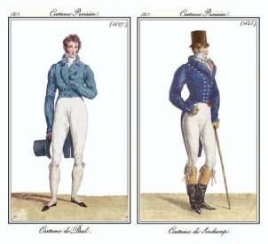 Costume de Ball and Costume de Longchamp 1817