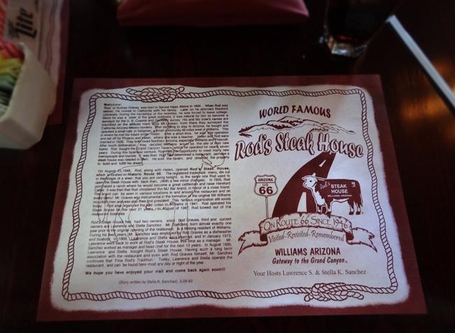 Rod's Steak House, Williams