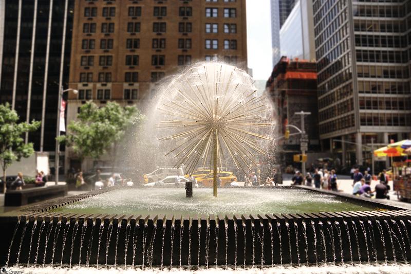 Dandelion Fountain, Sixth Avenue