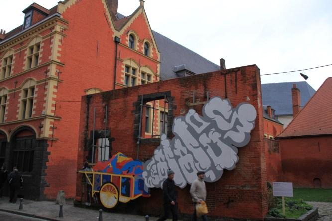 Graff réalisé à l'occasion du festival Renaissance par lille 3000