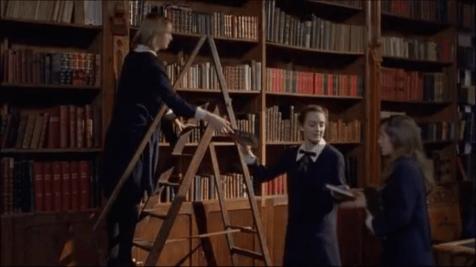 scène film bibliothèque
