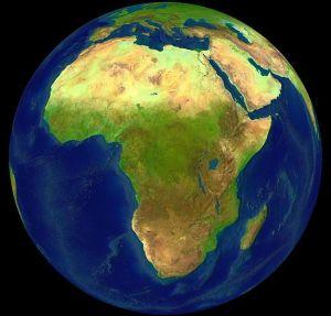 Satelittbilde av Afrika