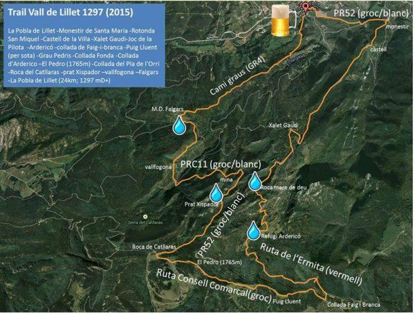 Mapa Trail Vall de Lillet 1297 (2015)