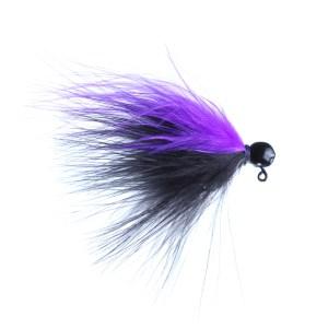 Lilley's Black/Purple, Black Head Marabou Jig
