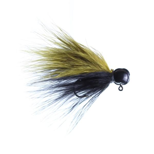 marabou jig 1/8oz black/olive