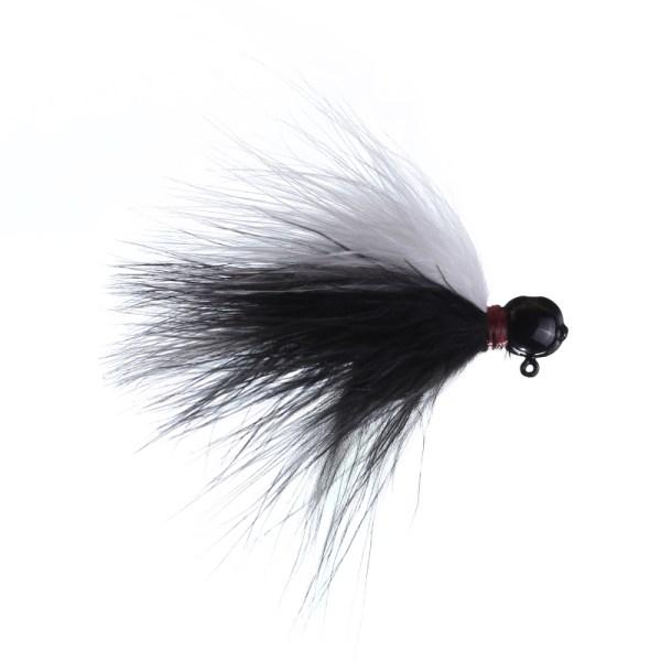 marabou jig 1/8 black/white black head