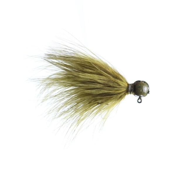 marabou jig 1/8oz olive - sculpin head