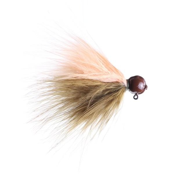 marabou jig 1/8oz sculpin/peach - brown head