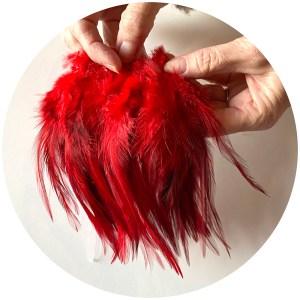 6-7″ Wooly Bugger Saddle Hackle – Blood Red