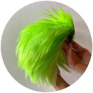 Streamer Rooster Neck – fluorescent Chartreuse
