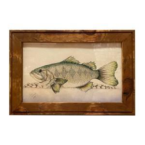 Jake Schneider – Bass Drawing, Framed