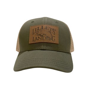 Leather Patch Hat – Olive Green & Khaki