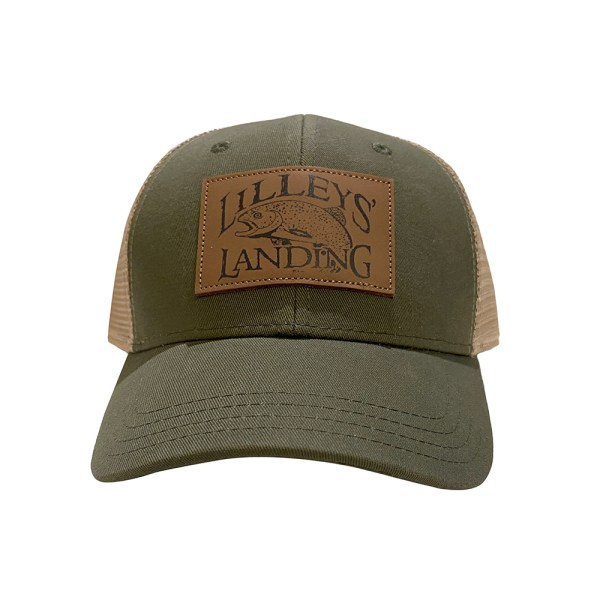 Lilleys' Leather Patch Hat - Green and Khaki