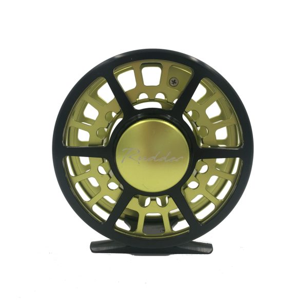 Rudder Black and Green Fly Reel