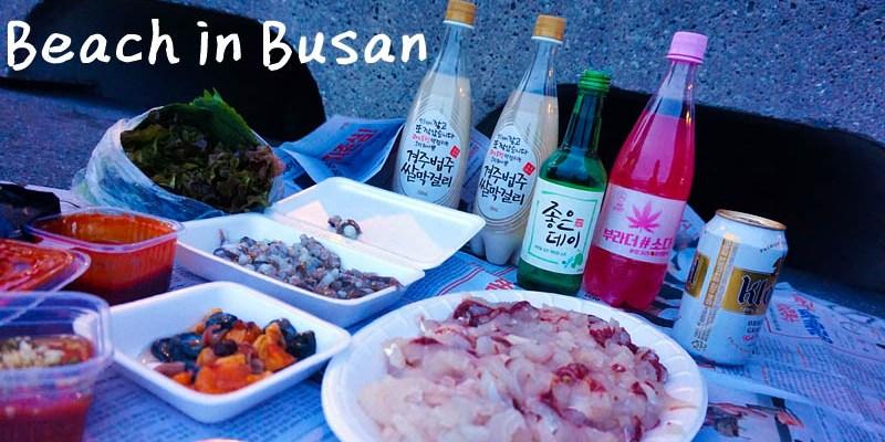 釜山景點美食|海雲台電影大道、民樂水邊公園活章魚生魚片