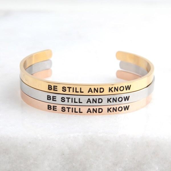 Christian Jewelry, Jesus, God, Scripture Bracelet, Faith Jewelry, Psalm 46:10